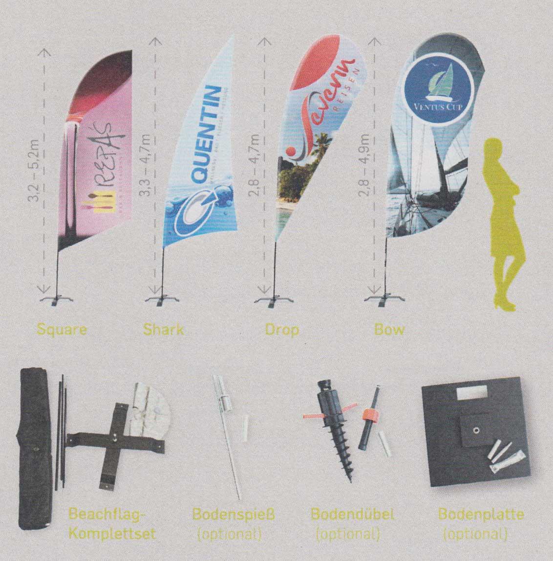 Beispiele Beachflags