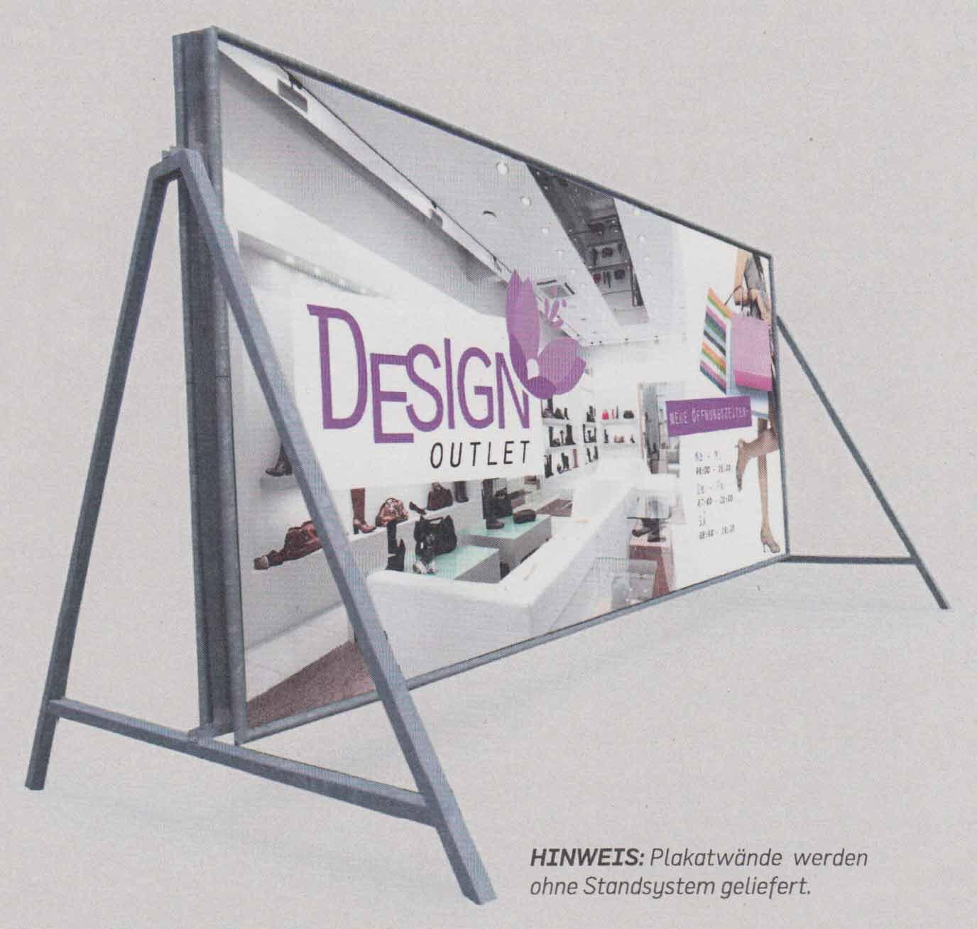 Beispiel: Plakatwand montiert auf Standsystem